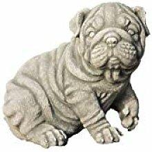 Mops, Hund, Tierfigur aus Steinguss