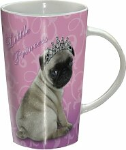 Mops - Little Princess - Becher - Latte