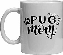 Mops-Tasse, lustige Kaffeetasse, Teetasse,