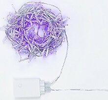 Moranduzzo d2033Lichterkette 180, Spiele Licht Memory, T.E. 6W, 31V, Außenbereich, Violett transparent, 14x 20.5x 9cm