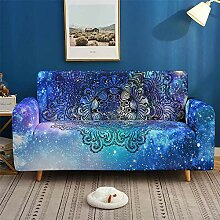 Morbuy Mandala Galaxy Sofabezug Sofaüberwürfe
