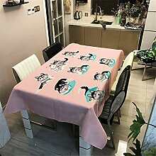 Morbuy Rechteckige Tischdecke, Polyester