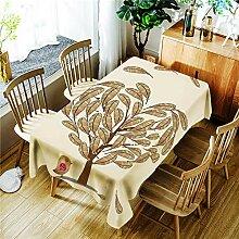 Morbuy Tischdecke Abwaschbar für Speisetisch,
