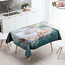 Morbuy Tischdecke Wasserdicht Abwaschbar,