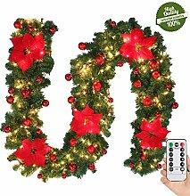 Morbuy Weihnachtsgirlande mit Beleuchtung,
