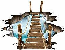 MordenMall 3D Zugbrücke Dekoration 160cmx120cm