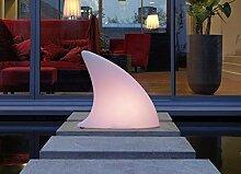 moree LED Bodenleuchte Shark Outdoor LED, Transparent/Weiß, Kunststoff, 26-02-01-LED