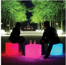 Moree Stehlampe Akku LED Sitzwürfel Cube mit