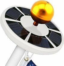 Morehappy7 42 LED Solar Fahnenmast Lichter IP65