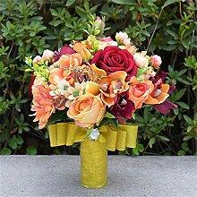 MOREJUN Hochzeit Blumenstrauss, Braut Mit Blumen,