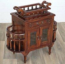 Moreko Bar Tisch Antik-Stil Teetisch Massiv-Holz