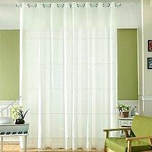 Moresave Einfarbig Tüll Vorhänge Voile Vorhang Schals für Wohnzimmer Schlafzimmer Kindergarten, 100x200cm