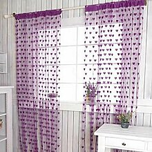 Moresave Herz Linie Quaste Schnur Tür Vorhang Faser Wand Fenster Raum Tassel 200cm x 100cm