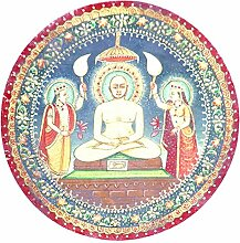 Moresave Indian Mandala Boho Runde Strand Handtuch Yoga Matten Wand Hängen Tapisserie, 150cm Durchmesser