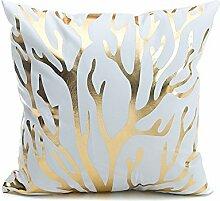 MORESAVE Liebesbrief Ananas Super weiche Bronzing Kissenbezüge Kissen Auto Sofa Home Dekor, 45 x 45CM