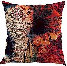 Moresave Mandala Elefanten Baum Wurf Kissen Abdeckungs Auto Sitz Kissenbezug Sofa Home Decorative, 45x45cm