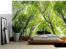Morgen Nebligen Wald mit Sonnenlicht Wandteppich