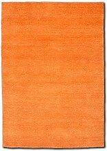 Morgenland Gabbeh Flowy Teppich Orange Einfarbig
