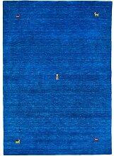 Morgenland Gabbeh SAHARA Teppich Blau Einfarbig
