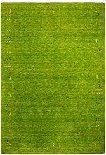 Morgenland Gabbeh Teppich FENTH Grün Einfarbig