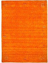 Morgenland Gabbeh Teppich FENTH Orange Einfarbig