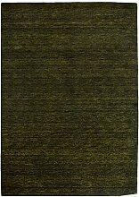 Morgenland Gabbeh Teppich Schwarzgrün UNI