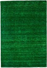 Morgenland Gabbeh Teppich UNI 350 x 250 cm Grün