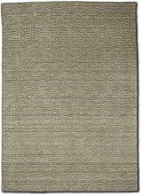 Morgenland Gabbeh Teppich UNI 350 x 250 cm Silber