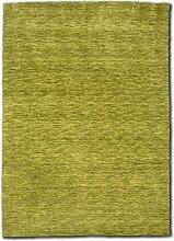 Morgenland Gabbeh Teppich UNI 400 x 300 cm Grün