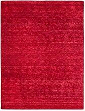 Morgenland Gabbeh Teppich UNI 400 x 300 cm Rot