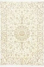 Morgenland Handgeknüpft Beige Teppich Medaillon