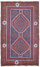 Morgenland Handgeknüpft Blau Teppich