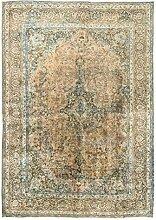 Morgenland Handgeknüpft Braun Teppich Medaillon
