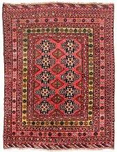 Morgenland Handgeknüpft Rot Teppich Geometrisch