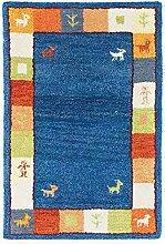 Morgenland Handgetuftet Blau Teppich Minimal