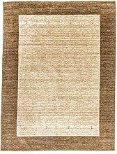 Morgenland Handgewebt Braun Teppich Minimal Muster
