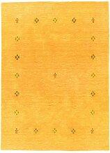 Morgenland Handgewebt Gold Teppich Minimal Muster