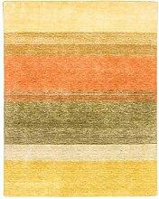 Morgenland Handgewebt Mehrfarbig Teppich gestreift