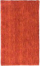 Morgenland Handgewebt Rot Teppich Einfarbig Muster