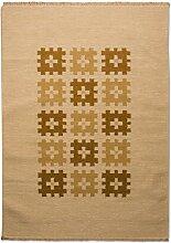 Morgenland Kelim Teppich ERANA 160 x 90 cm Gold
