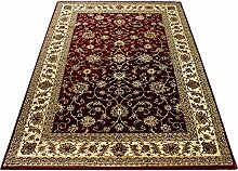 Morgenland Traditionell Orient Teppich Rot Creme