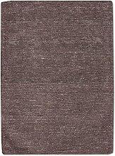 Morgenland Uni Kurzflor Teppich Grau Handgemacht