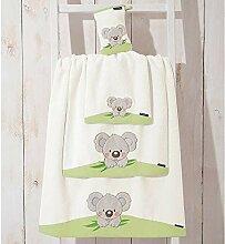 Morgenstern 1 Frottier Kinder-Handtuch Koala grün