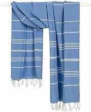 Morgenstern Hamamtuch Badetuch Blau Weiß