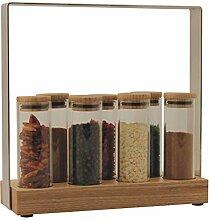 Morinox 4447 Gewürzregal aus Glas, Holz und