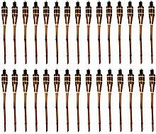 Moritz 30 Stück Bambusfackeln Fackel 90 cm