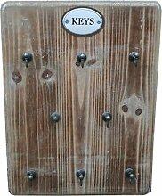 Moritz Schlüsselbrett aus Holz mit 8 Haken -