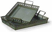 Moritz Tablett Serviertablett Metalltablett Set