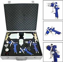 MorNon 3X HVLP Spraypistole Lackierpistole Set