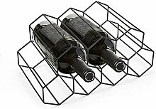 MorNon Weinregal für 9 Flaschen, modernes